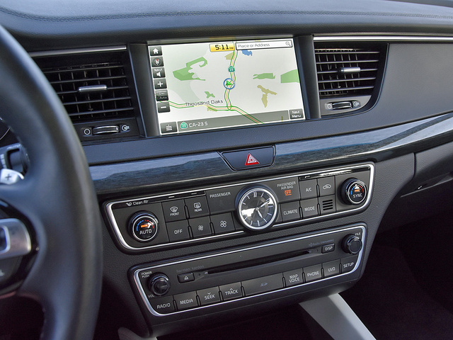 2017 Kia Cadenza Limited UVO Navigation Map Display, interior, gallery_worthy