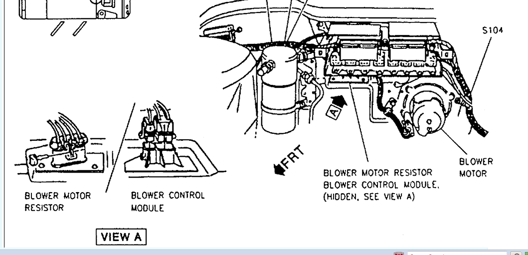 cadillac deville questions where is located the blower motor1988 Cadillac Blower Motor Wiring Diagram #13