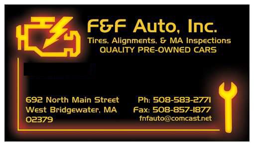 F Amp F Auto Inc West Bridgewater Ma Read Consumer