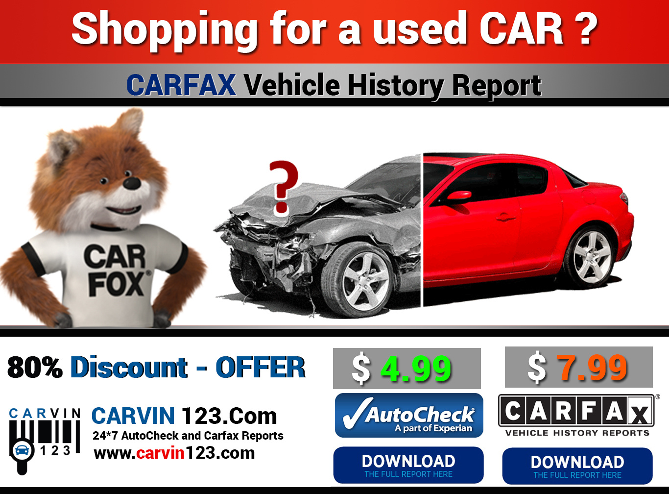 can I get a carfax report on a vehicle