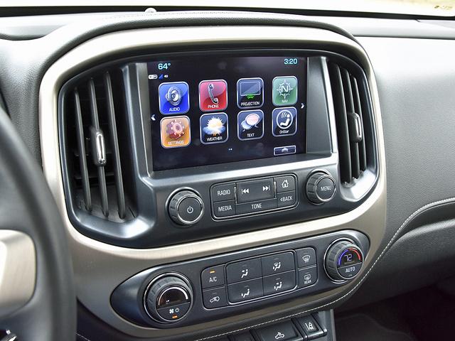 2017 GMC Canyon Denali Crew Cab 4WD, 2017 GMC Canyon Denali IntelliLink main menu display, interior, gallery_worthy