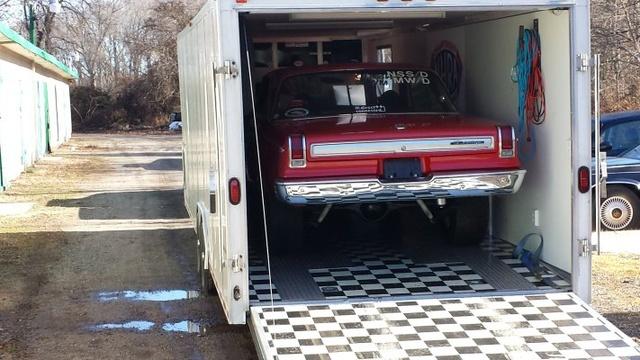 65 Dodge on its way to LI