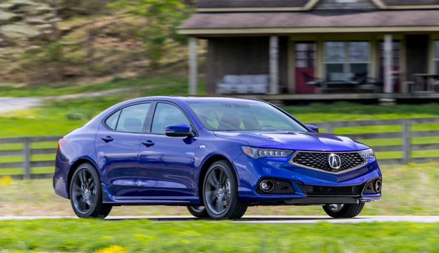 2018 Acura TLX, Acura TLX front-quarter view, exterior, manufacturer, gallery_worthy