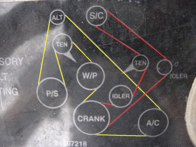 Oldsmobile Ninety-eight Questions - 1994 Olds 98 3800 Supercharged Belt Diagram