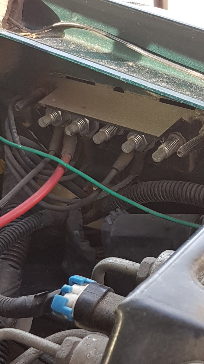 side of the truck i get lights, a clean start but it's running on  battery power  what am i missing? *connecting the + to the red wire in the  photo