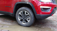 2017 Jeep Compass Trailhawk 4WD, The bumpers and tires are unique to the Trailhawk and give the car added off-road prowess., exterior