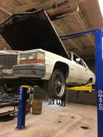 1981 Cadillac DeVille Base Coupe, Engine Removal, exterior