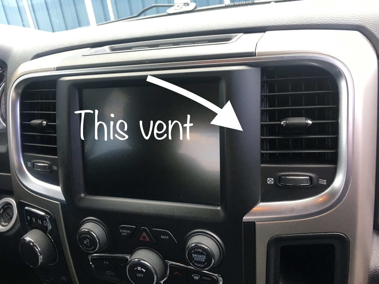Ram 1500 Questions - No air from passenger side vent 2014