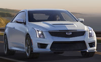 2017 Cadillac ATS-V Coupe, Front-quarter view., exterior, manufacturer, gallery_worthy