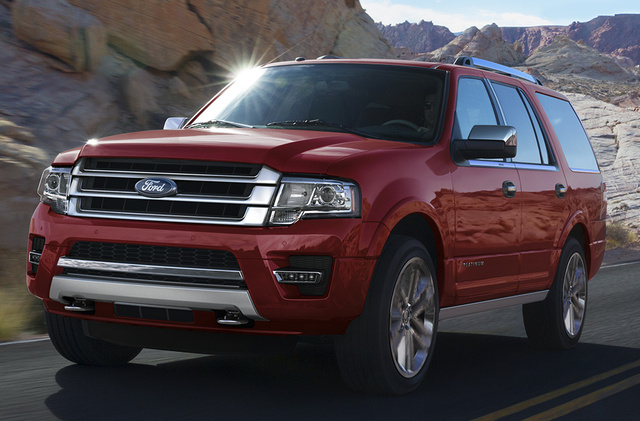2017 Ford Expedition, Front-quarter view., exterior, manufacturer, gallery_worthy