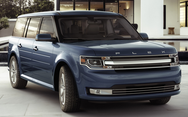 2017 Ford Flex, Front-quarter view., exterior, manufacturer, gallery_worthy