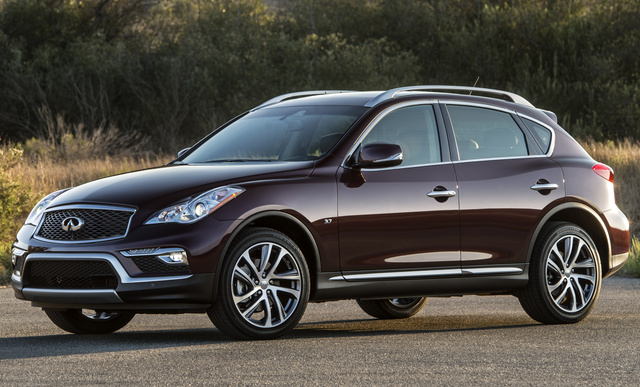 2017 INFINITI QX50, Front-quarter view., exterior, manufacturer, gallery_worthy