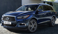 2017 INFINITI QX60, Front-quarter view., exterior, engine, gallery_worthy