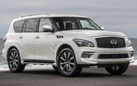 2017 INFINITI QX80, Front-quarter view., exterior, engine, gallery_worthy