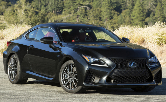 2017 Lexus RC F, Front-quarter view., exterior, manufacturer, gallery_worthy
