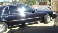 1999 Mercury Grand Marquis 4 Dr GS Sedan, Dark blue,4 dr., exterior