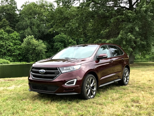 awd review edge ford titanium left rear