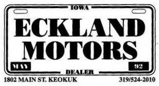 Eckland Motors Keokuk Iowa >> Eckland Motors Inc Keokuk Ia Read Consumer Reviews Browse Used