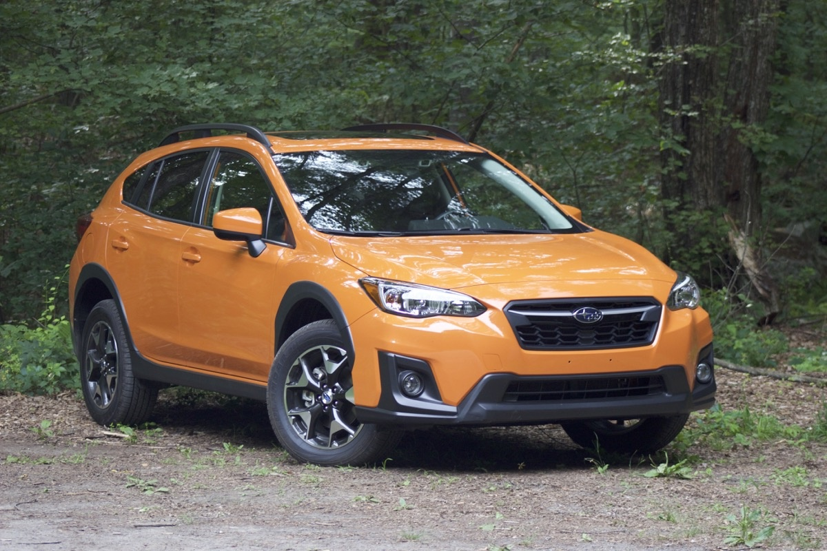Front 3/4 of the 2018 Subaru Crosstrek