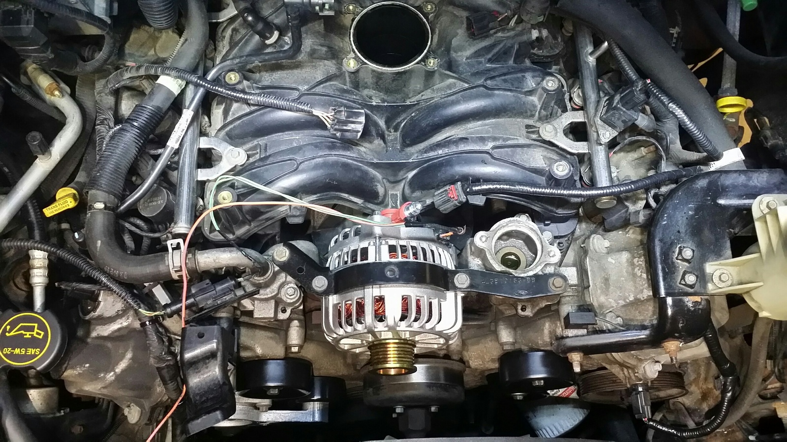 Ford F 150 Questions Alternator Battery Or Electrical Cargurus Tach Wiring Diagram On A 87 F150 In Addition Diesel Bad Idea Either Since It Will Only Take 5 10 Mins While Everything Else Is Out Of The Way See Attached Pic I Did This Job Just Couple Weeks Ago