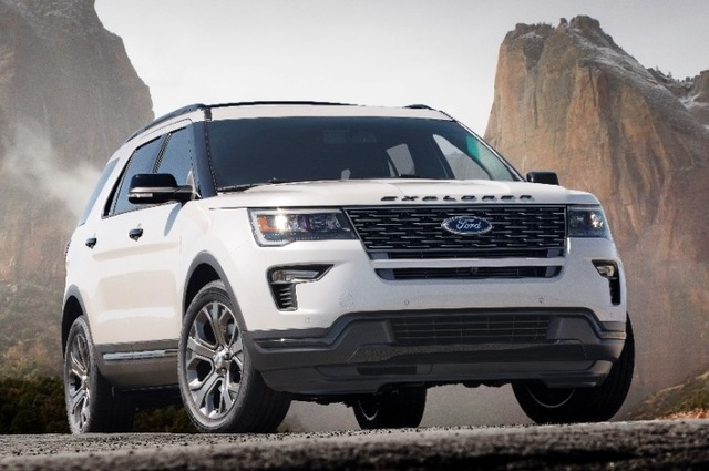 2018 Ford Explorer, Front-quarter view, exterior, manufacturer, gallery_worthy