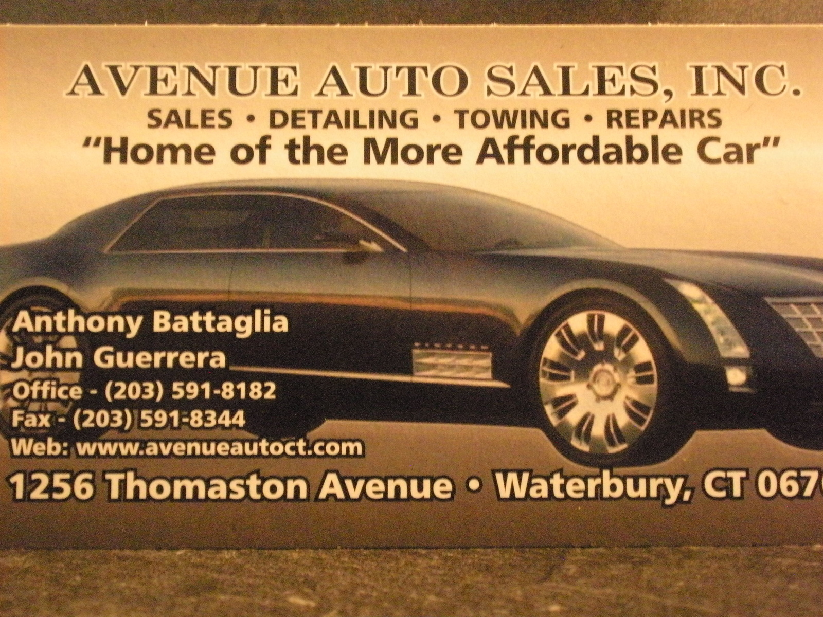 Avenue Auto Sales Waterbury CT Read Consumer reviews Browse