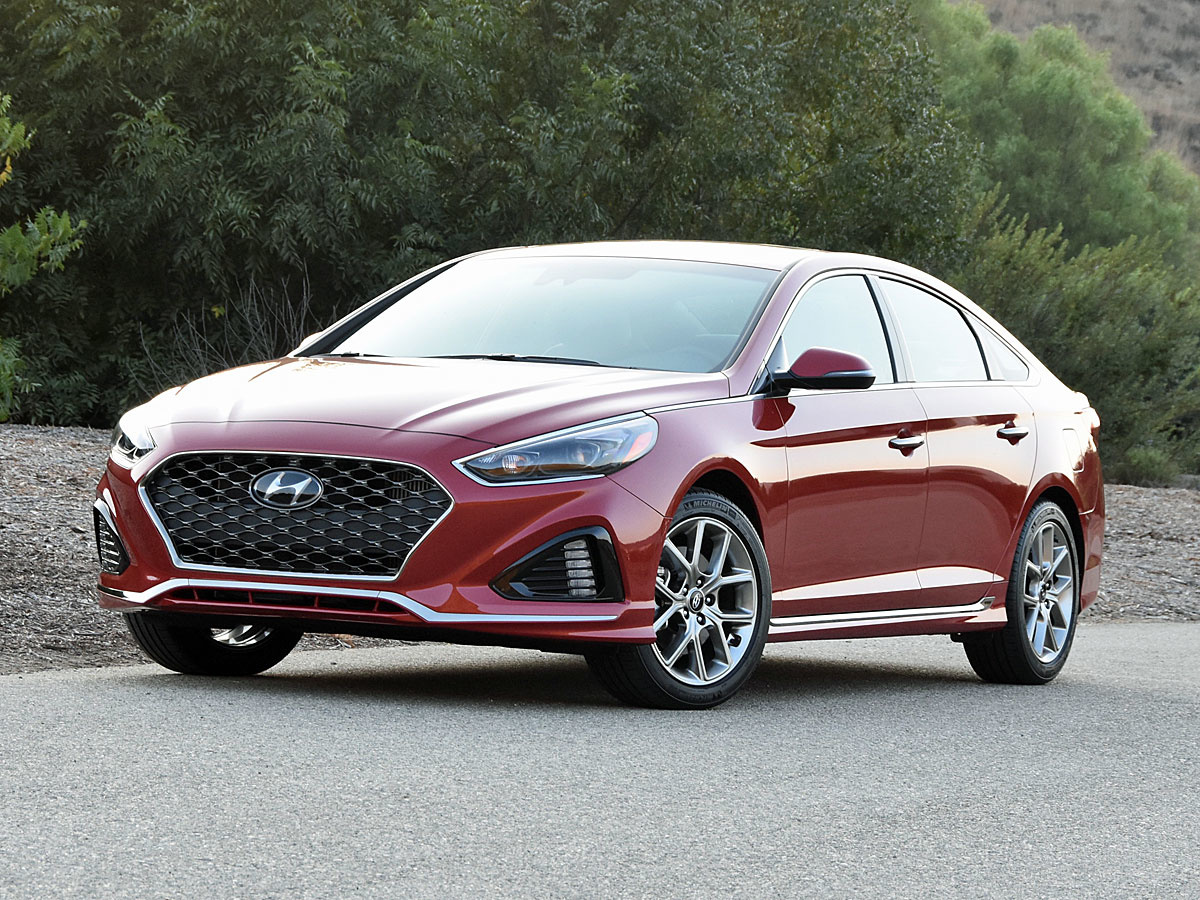 2018 Hyundai Sonata Limited 2.0T in Scarlet Red