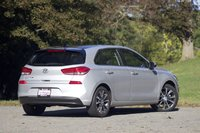 Rear 3/4 of the 2018 Hyundai Elantra GT, exterior, gallery_worthy
