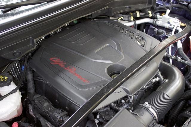 Engine of the 2018 Alfa Romeo Stelvio