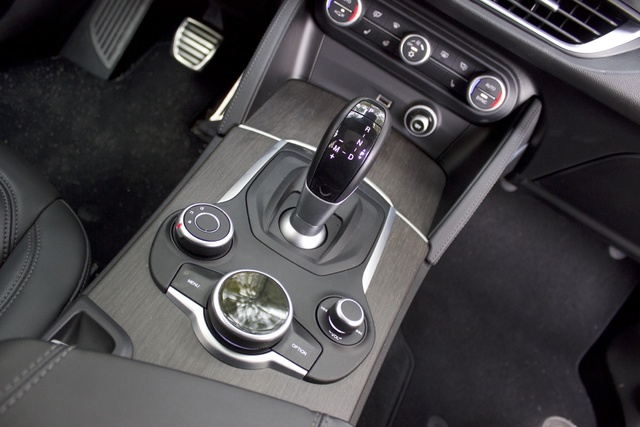 Center console of the 2018 Alfa Romeo Stelvio., interior, gallery_worthy