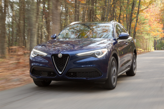 2018 Alfa Romeo Stelvio, Front-quarter view, exterior, gallery_worthy