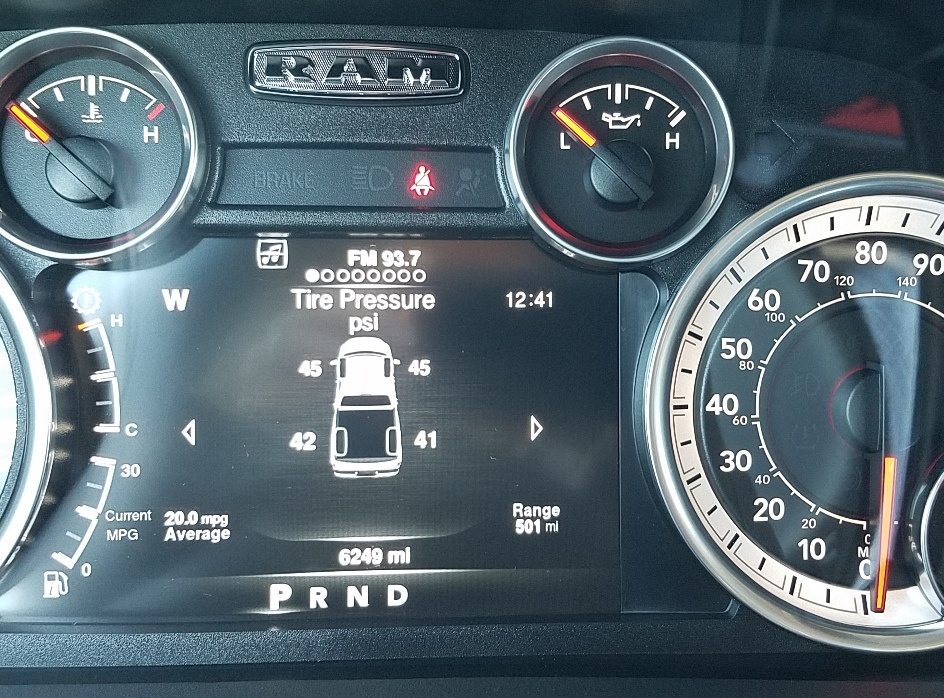 2011 chrysler town and country tire pressure sensor reset