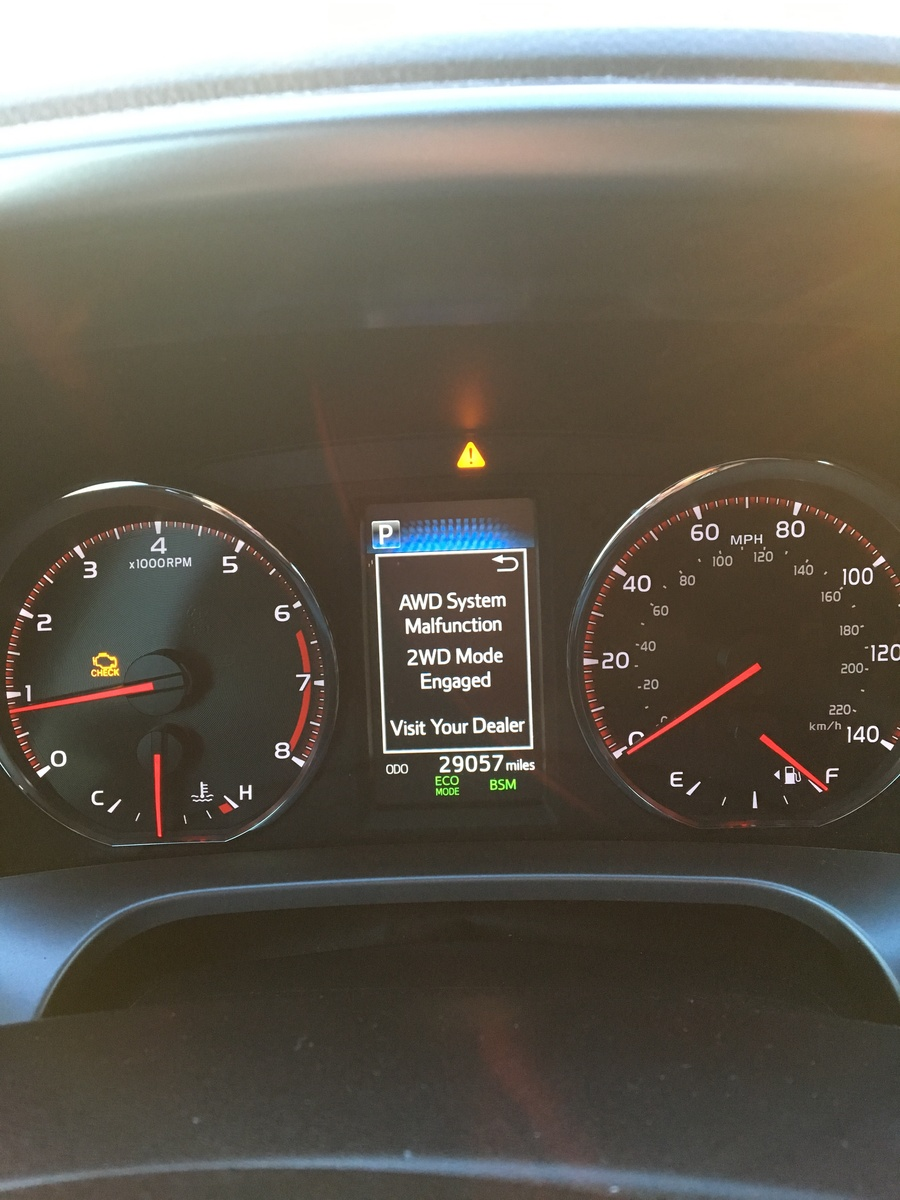 Toyota RAV4 Questions - Check AWD system is flashing on dash - CarGurus