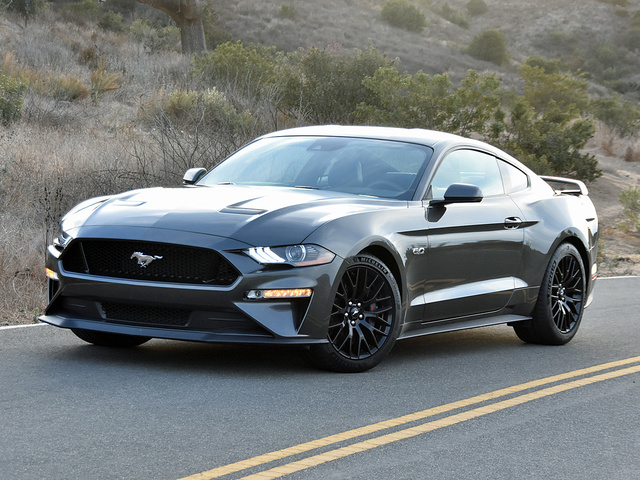 2018 Ford Mustang GT Premium Coupe RWD, 2018 Ford Mustang GT Coupe in Magnetic paint, exterior, gallery_worthy