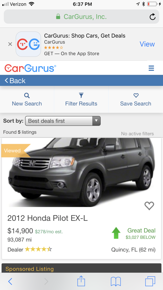 Shopping Pricing Questions Wrong Information Cargurus