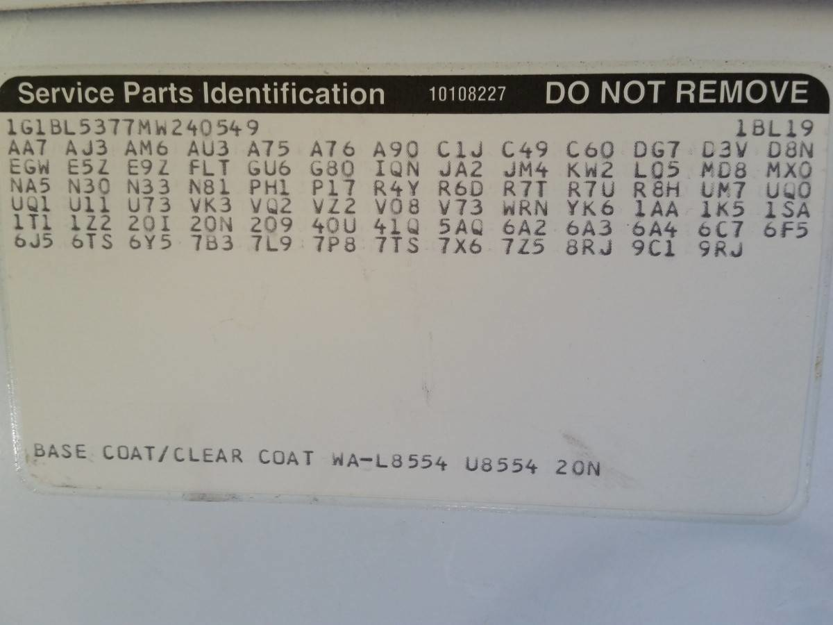 Buick LeSabre Questions - two types of transmission go in a 2004 ...