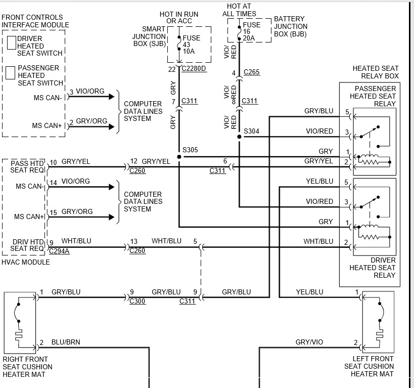 ford mustang questions seems my heated seats in my 2013 2013 Altima Fuse Diagram