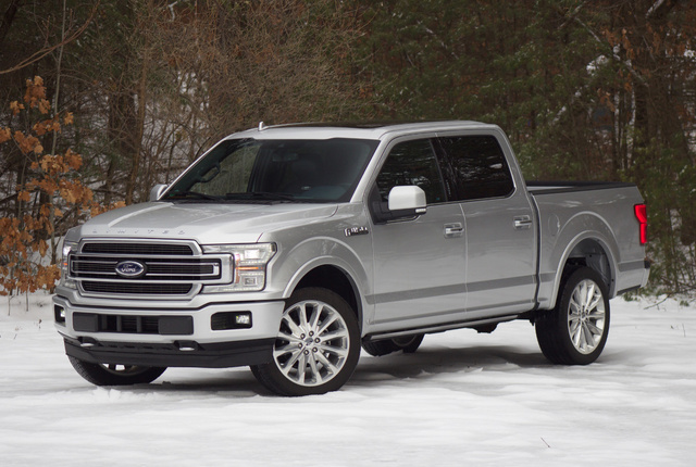 Front 3/4 of the 2018 Ford F-150