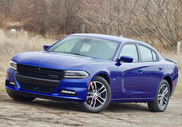 Front 3/4 of the 2018 Dodge Charger GT