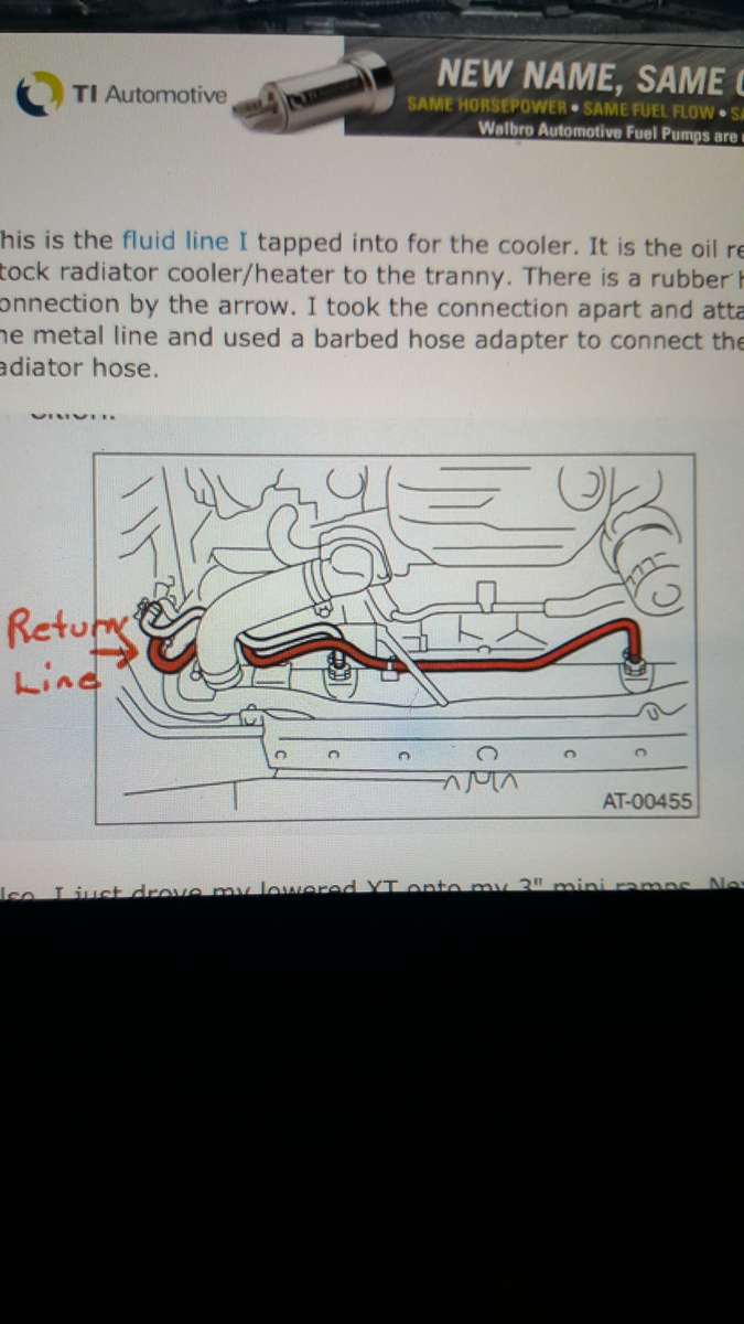 Subaru Impreza Questions Radiator Transmission Cooling Lines Legacy Engine Diagram The See Picture But My Markings Came Off When I Was Doing Replacement If You Have A 2006 Impeza 25 Sohc Car To Compare That Would Be