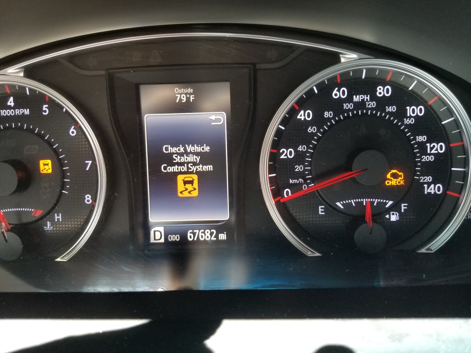 VSC off, TRAC off, and Check Engine light all came on the same time. I know  I need new shock absorbers, but why would the Check Engine light come on?