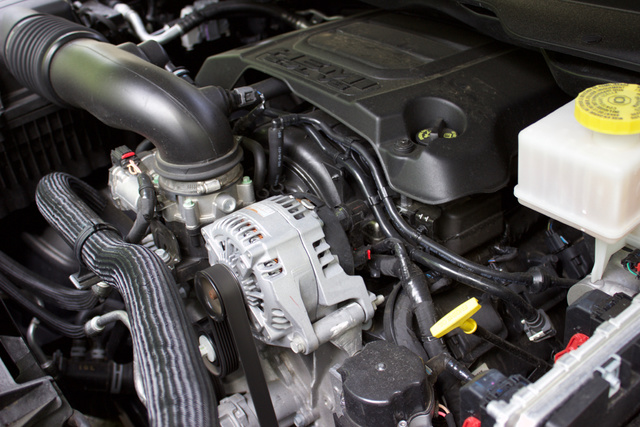 Engine of the 2019 Ram 1500. V8 (non eTorque).
