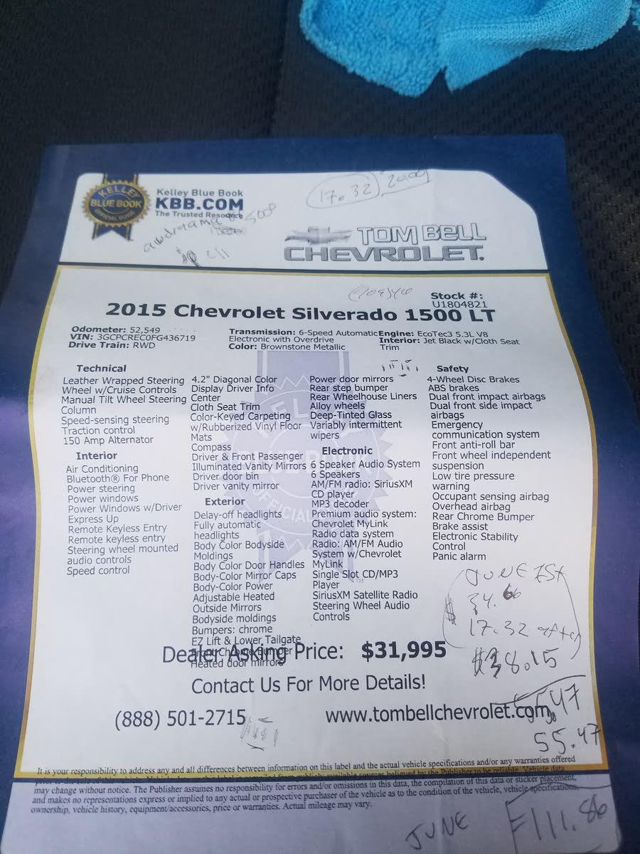 Chevrolet Silverado 1500 Questions - 2015 Chevy silverado