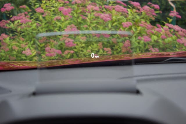 Head-up display (HUD) of the 2018 Mitsubishi Eclipse Cross., interior, gallery_worthy