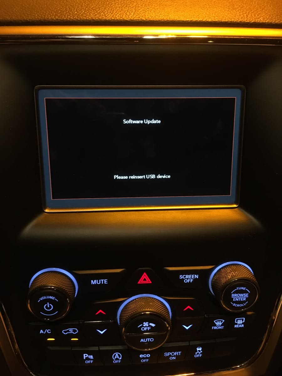 Jeep Grand Cherokee Questions - SOFTWARE UPDATE ISSUES