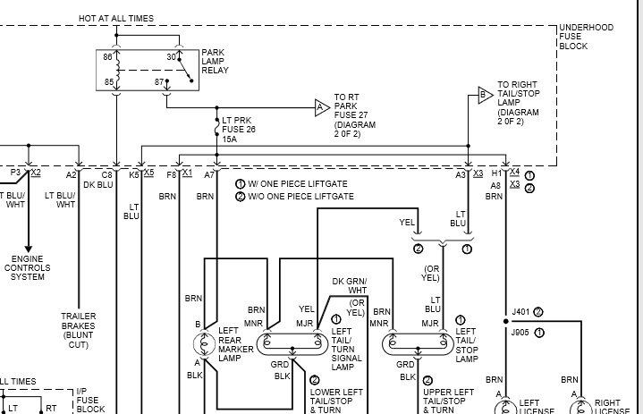 2002 avalanche tail lights wiring diagram daily update wiring diagram Outlet Wiring Schematic
