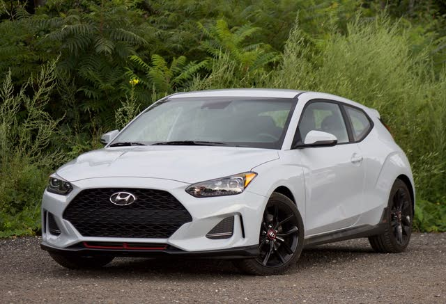Front 3/4 of the 2019 Hyundai Veloster.