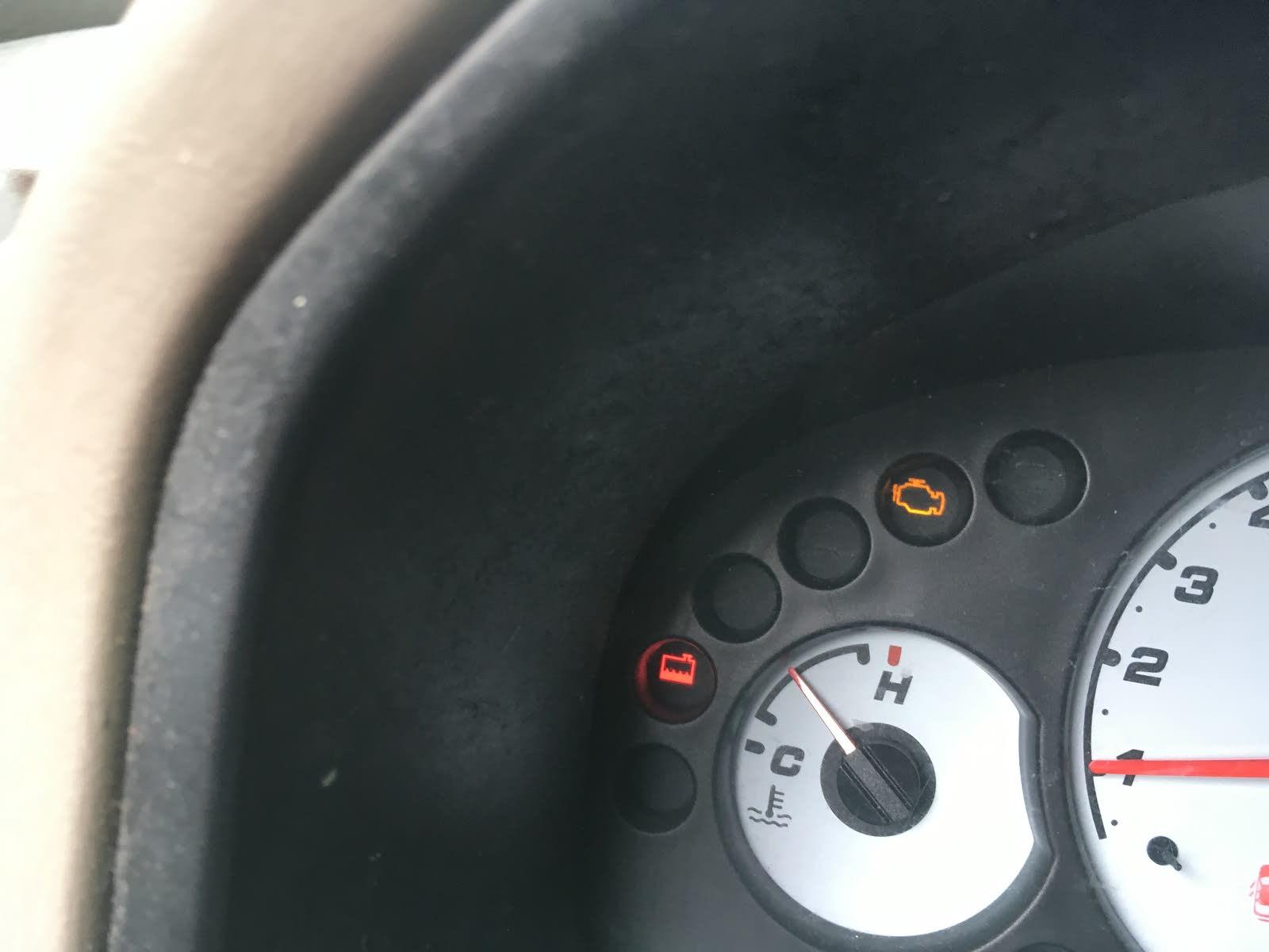 Radiator Indicator Light Dash