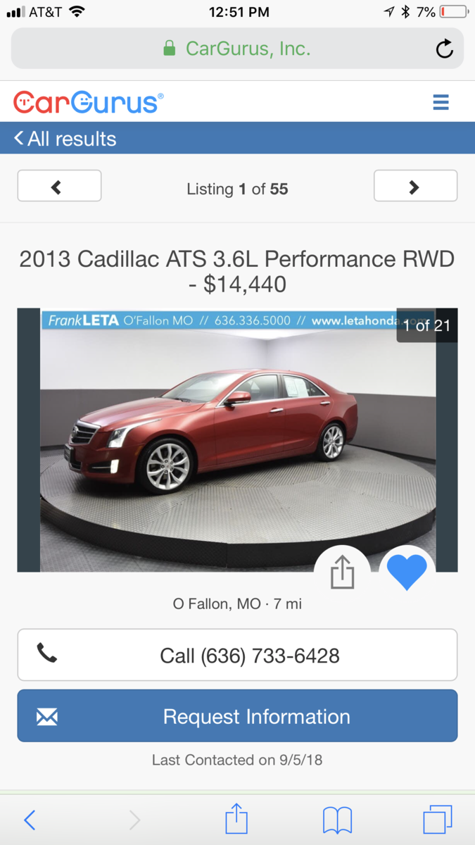 Cadillac ATS Questions - Dealer price bait switch frank Leta