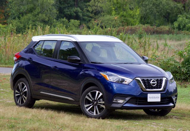 Front 3/4 of the 2018 Nissan Kicks.